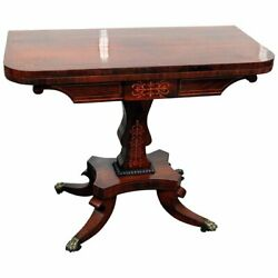 Best Rosewood Antique 1820s Inlaid English Rosewood Pembroke Console Table Wow