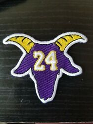 Goat 24 Mamba Los Angele Lakers Jersey Style Patch Embroidery Un Signed Kb Kobe