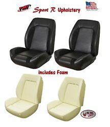 Sport R Front Bucket Seat Upholstery + Foam For 1967-68 Camaro Tmi Made In Us