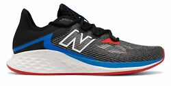 New Balance Men#x27;s Fresh Foam Roav Haze Shoes Grey with Black amp; Red