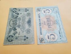 2 Russia 15ruble S213bvf Taped 25rubles324a Vf With Serial No Rare