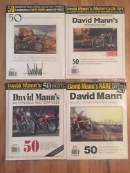 David Mann 4 Rare Sealed Books50 Magnificent Works Of Motorcycle Art Magazine