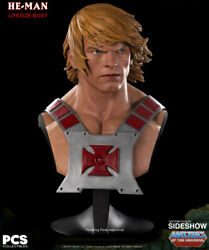 He-man Life Size Bust11 Prop Ex. Motu Masters Of The Universe Pcs 51/300 New