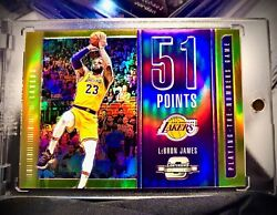 Lebron James 2018-19 Panini Contenders Optic Gold Playing The Numbers Game /10