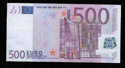 Europe Germany 500 Euro 2002 Unc Trichet Sign Printer 9332