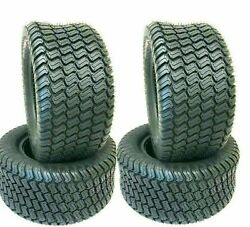 Four New 18x8.50-8 Lawn Mower Golf Cart Turf Tires P332 4 Ply Rated