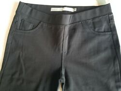 Girls Tractr Tractor Pants Black Stretch Ponte Skinny Jeggings 16 Nordstrom Nwt