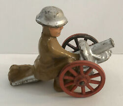 Vintage Barclay Military Lead Cannon Figure