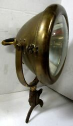 Early Brass Electric Searchlamp American Lafrance Seagraves Ahrens Fox Model T