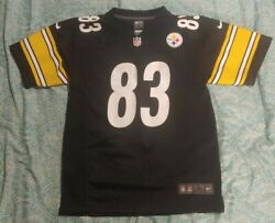 Nike Pittsburgh Steelers 83 Heath Miller Black Jersey Youth Size Large 14-16