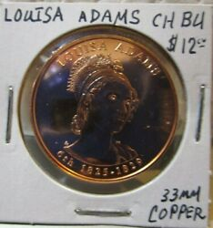 Y Token - Louisa Adams First Lady Of The Usa - 33 Mm Copper