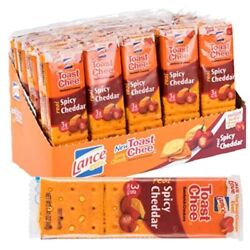 Lance Toastchee Spicy Cheese Cheddar Sandwich Crackers 20 Count