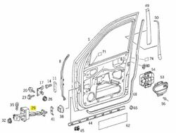 A1637200116 Mercedes W163 Front Door Check Genuine New