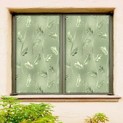 3d Leaves 088nao Window Film Print Sticker Cling Stained Glass Uv Block Fay