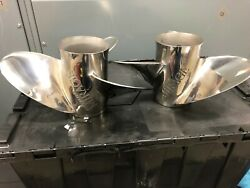 Mercruiser Mirage Stainless Steel 21 Pitch 3 Blade Performance Props