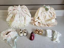 Vintage Victorian Antique Doll Collectible Clothing Outfits Dresses Shoes Socks