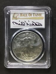 2020 P Silver Eagle Pcgs Ms70 Emergency Production Hall Of Fame Phil Niekro Fd