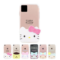 Hello Kitty 3d Edge Jelly Slim Case For Iphone 11 Pro Max 7 8 Plus X Xr Xs Max