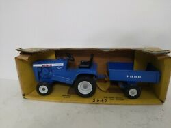 Ertl Ford Lgt 12 Lawn And Garden Tractor Set W Trailer 1/12 70and039s
