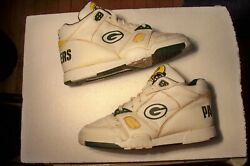 Rare Eastport By Starter Green Bay Packers Hi Top Sneakers Shoes Men Size 10