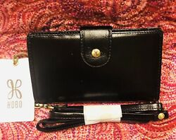 HOBO Wallet Purse Leather Crossbody Phone Holder Wallet Black Apollo NWT Ret$98 $45.00