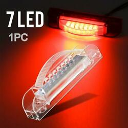 Clear/red 4 Clearance Marker Light Thin Line Design Fits Rails 7diodes Sealed