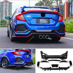 Rear Skid Plate Bumper Board Guard Unpainted Fit For Honda Civic Type R 2016-20