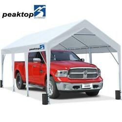 Heavy Duty Carport Garage Outdoor Garden Canopy Car Shelter Shed Storage 10and039x20and039