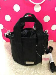 Victoria#x27;s Secret PINK Mini Bucket Bag Black Pure Black Small Crossbody Free Sh $17.99