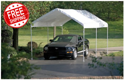 Heavy Duty 10and039x20and039 Outdoor Canopy Shelter Popup Shed Garage Carport Storage Tent