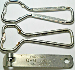 Old Vintage Lot Of 3 Can And Bottle Openers Tapper