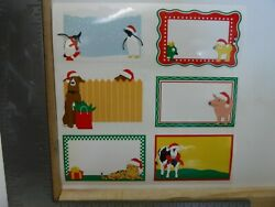 MRS. GROSSMAN#x27;S ANIMALS CHRISTMAS LABELS COW PIG PENGUIN DOG STICKERS NEW A24526