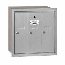 Salsbury Industries 3503aru Recessed Mounted Vertical Mailbox With 3 Doors And