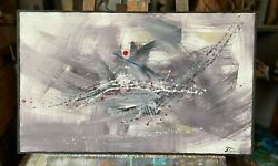 Abstract Oil Paining On Canvas By Anatol Danilisin Member Of Aiap Unesco France