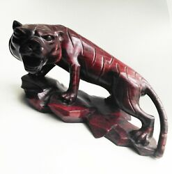 Rare Wood Panther Tiger Statue Figurine/cougar/tiger Cat Statue Cat Figurine Vtg