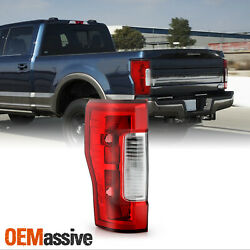 For 2017-2019 F250/f350 Super Duty [w/o Blind Spot] Red Tail Lamp Driver W/o Led