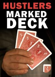 Mak Magic Marked Deck Hustlers Red Bicycle Playing Cards Shark See Video