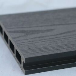 Grey Wood Effect Composite Decking   25 Board Pack   Covers 10 Square Metres