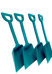 Wholesale Lot Small Toy Teal Shovels Pack 500 Mfg. Usa Lead Free No Bpa