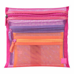 Caboodles Mesh Travel Bag Trio Pack of 3 Beauty Makeup Cosmetic Bags $12.99