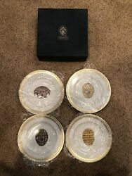 Faberge Limoges France 4 Piece Plate Set In Box, The Forbes Magazine Collection