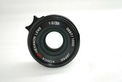 Rare Near Mintkonica Uc-hexanon L 35mm F/2 For Leica L Only 1000 Made 3978