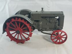 Ertl Diecast Farm Tractor - Green With Red Steel Wheels