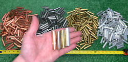500 Qty Bulk Mix Lot- Solid Rod Round Stock Of Copper Brass Aluminum And Steel