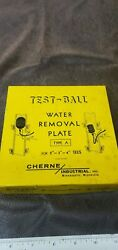 Cherne Type A Test Ball Water Removal Plate For 2-3-4 Tees