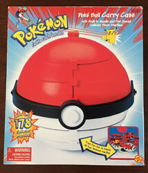 Rare Pokemon Pokeball Carry Case And 5 Special Collector Marbles. Factory Sealed.