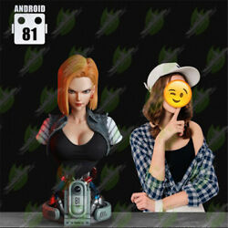 Dragon Ball Z Android 18 Resin Bust Statue Green Leaf Studio Presale 1/1 70cm
