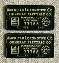 Northern Pacific Rs - 1 Locomotive Builders Plates - Both Plates