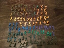 Vintage 115 Military Army Men Toy Soldier Figurines - Marx Timmee Toys Mpc