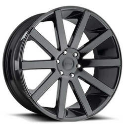 4 26 Dub Wheels Shot Calla S219 Gloss Black Rimsb47